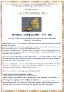 TEXTE SUR LE PRINTEMPS KAPHA 1