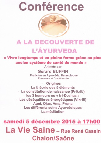 affichette conference vie saine 5 decembre 2015